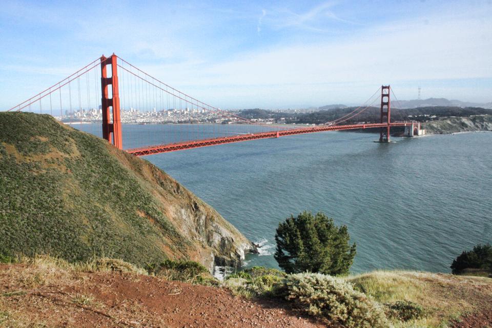 Pohľad na most Golden Gate, Roadtrip po Kalifornii